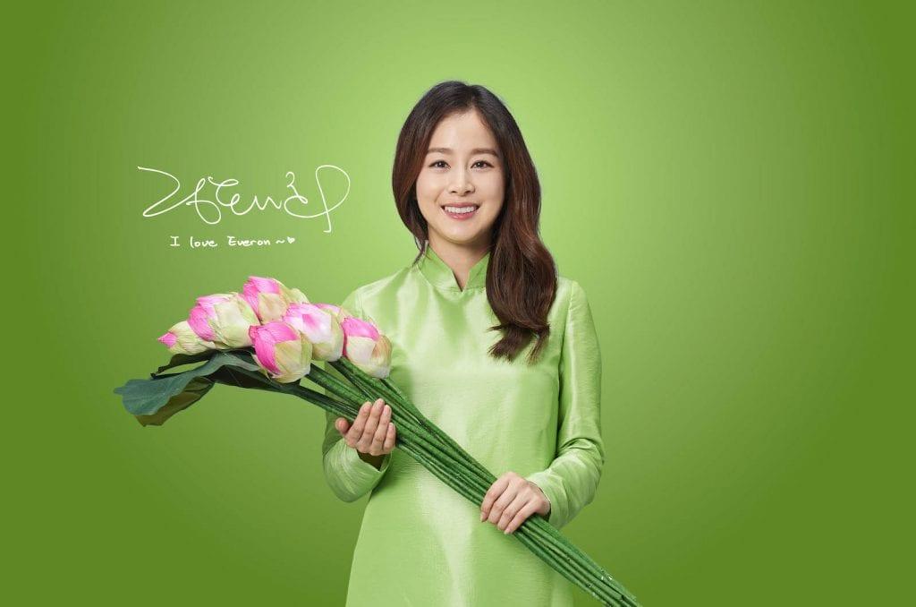 Kim Tae Hee – Đại sứ thương hiệu Everon gửi lời chào tới fan Việt 1